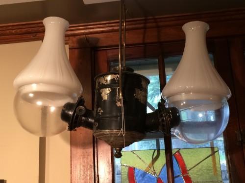 Angle Oil Lamp Ca. 1880 Rewired.