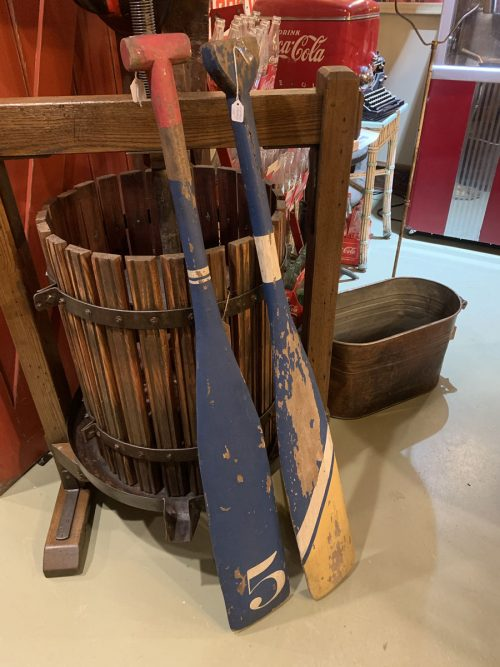 Wood Paddles Ca 1920's.