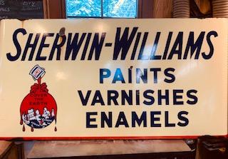 Sherwood Williams Porcelain Sign 1947.