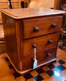 Miniature Mahogany Dresser Ca. 1870.